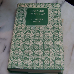 Companion book club A Leopard in my lap by Michaela Denis 1956 hardback book